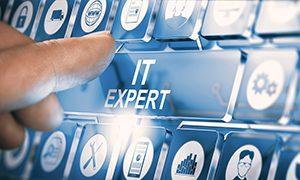 IT expert button